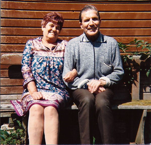 Ivor with Sister Gladys in front of his workshop