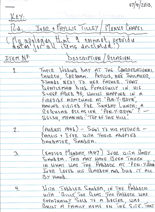 Michaels notes
