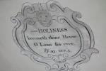 Ceiling Inscription
